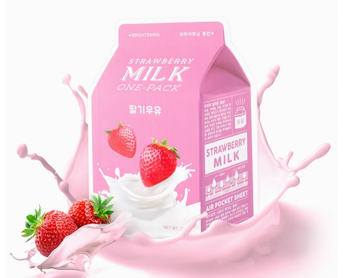 A'pieu Strawberry Milk Kaukė (skaistinanti)