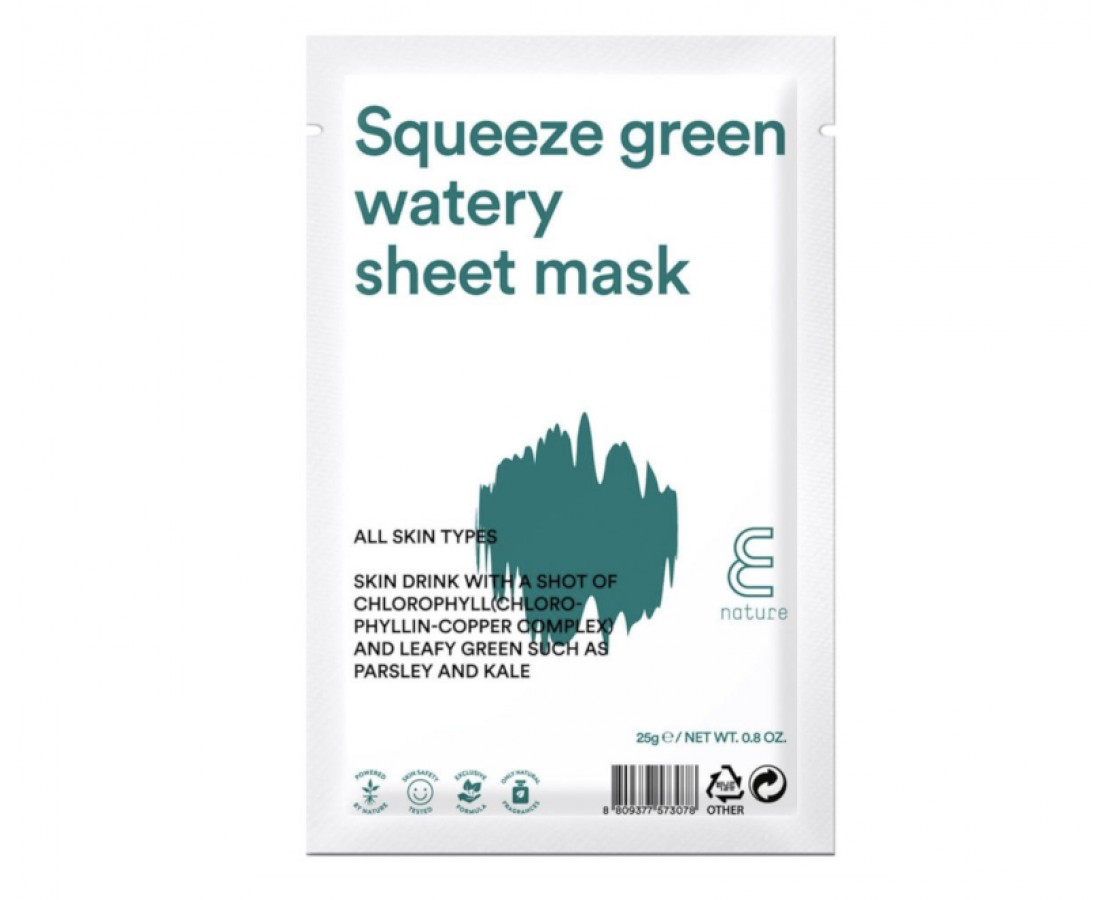 E Nature Squeeze Green Watery Sheet Mask - kaukė