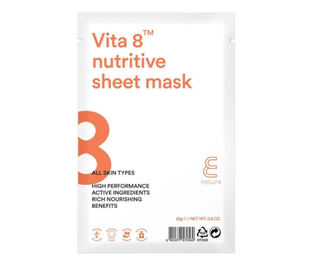 E Nature Vita 8 Nutritive Sheet Mask - kaukė