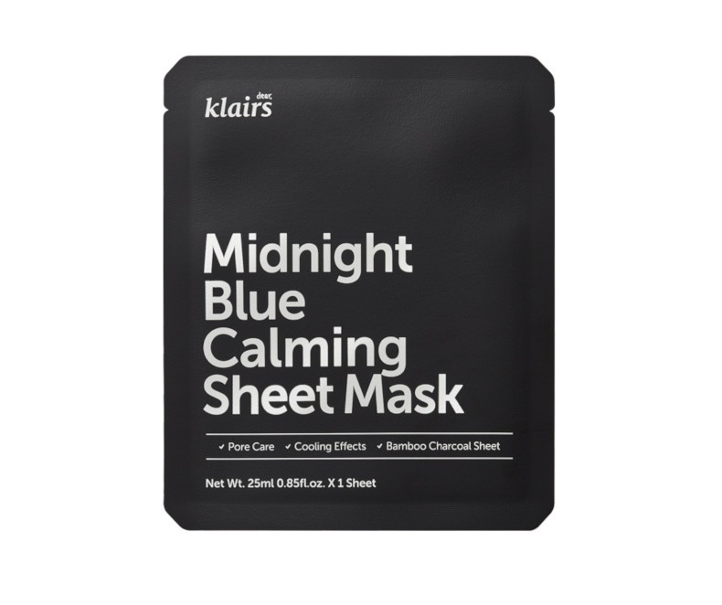 Klairs Midnight Blue Calming Sheet mask - veido kaukė