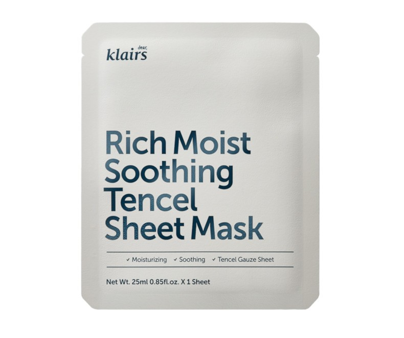 Klairs Rich Moist Soothing Tencel Sheet Mask - veido kaukė