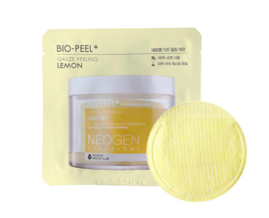 IŠPARDUOTA. NEOGEN Dermatology Bio-peel Gauze Peeling Lemon - eksfoliuojantis diskelis (1vnt.)