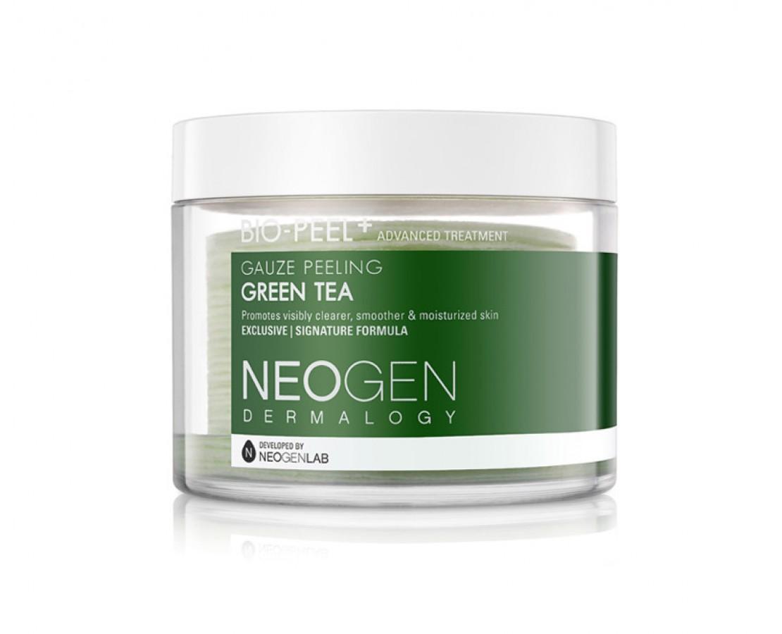 IŠPARDUODA. NEOGEN Bio Peel Gauze Peeling Green Tea eksfoliuojantys diskeliai