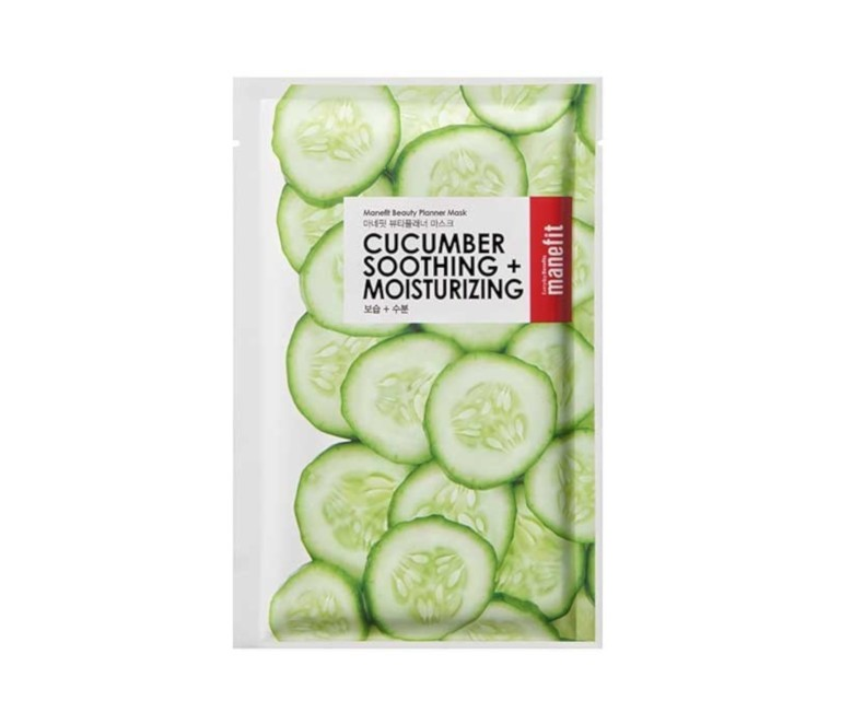 Manefit Beauty Planner Mask (Cucumber) - veido kaukė
