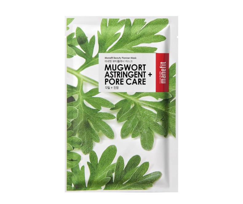 Manefit Beauty Planner Mask (Mugwort) - veido kaukė