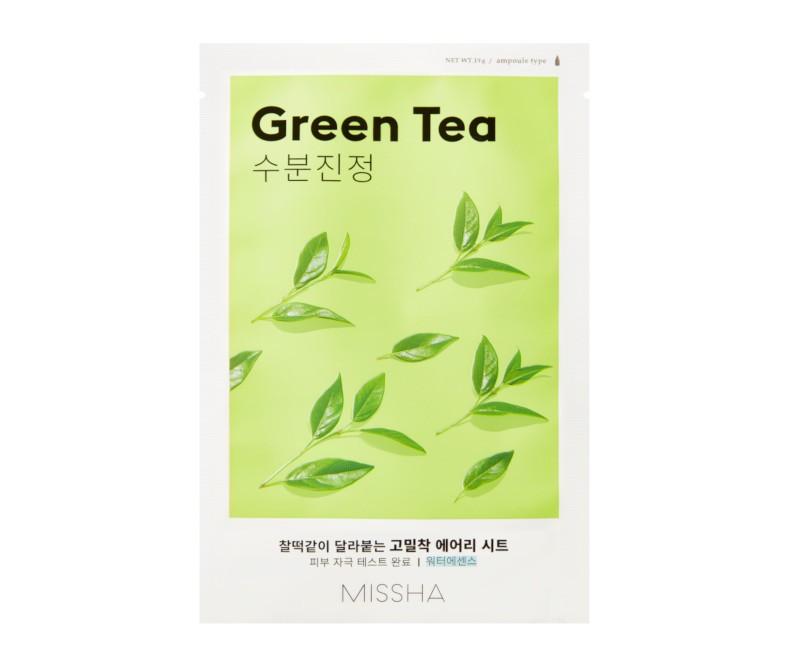 Missha Airy Fit Sheet Mask (Green Tea) - kaukė