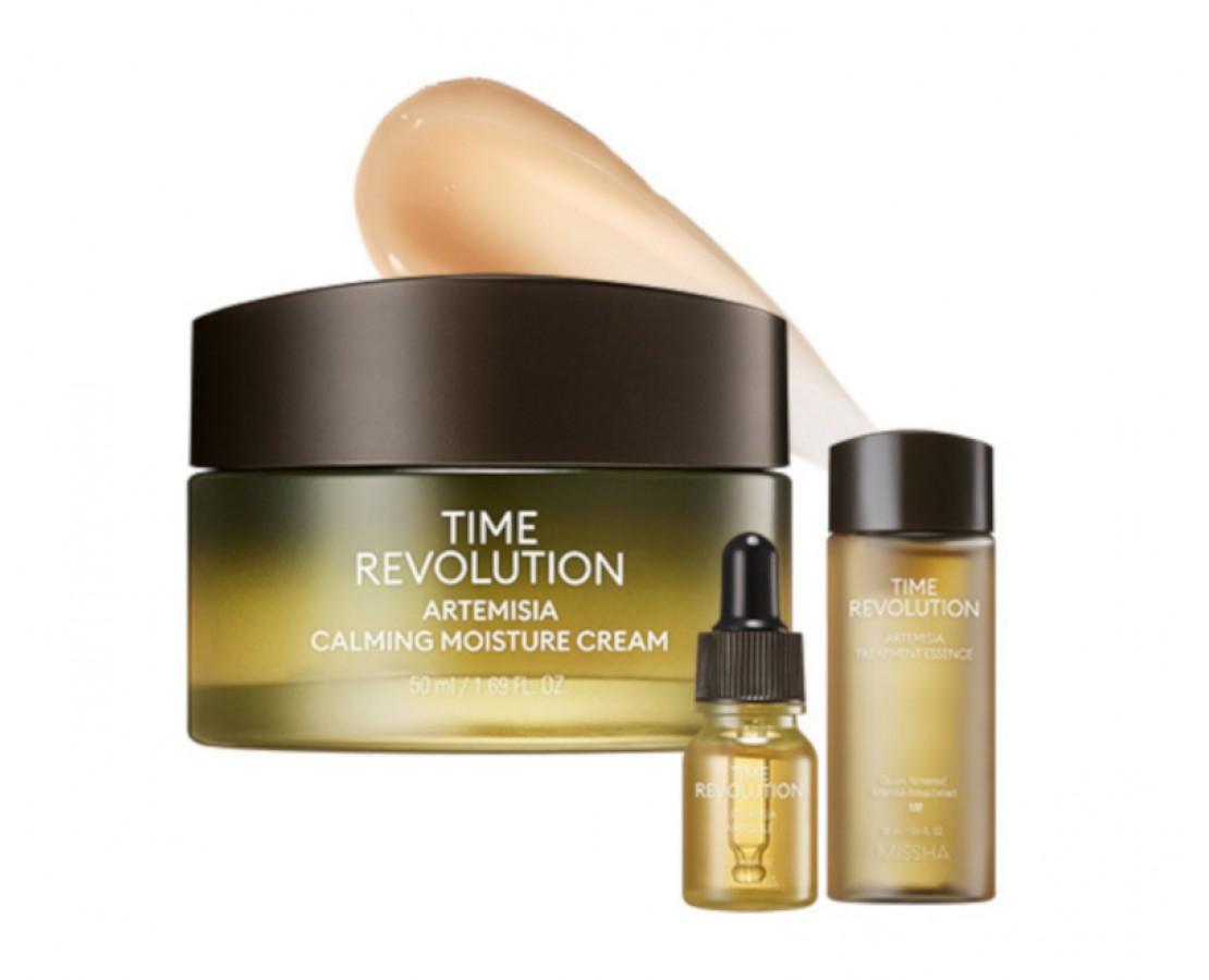 Missha Time Revolution Artemisia Calming Moisture Cream Special Set - rinkinys