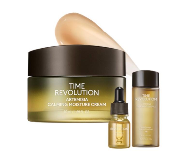 IŠPARDUOTA. Missha Time Revolution Artemisia Calming Moisture Cream Special Set - rinkinys