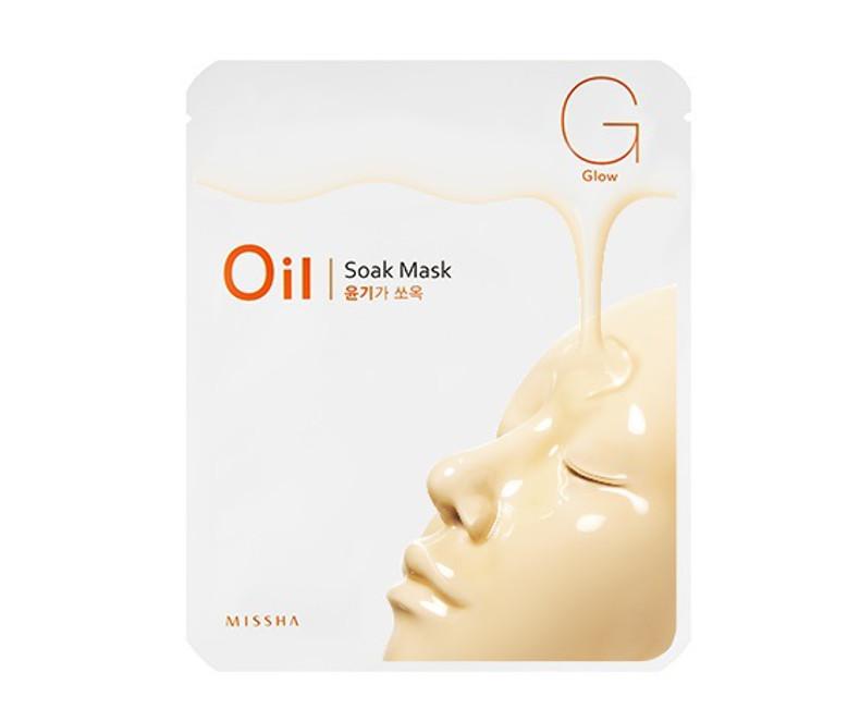 Missha Oil-Soak mask - veido kaukė (švytėjimui)