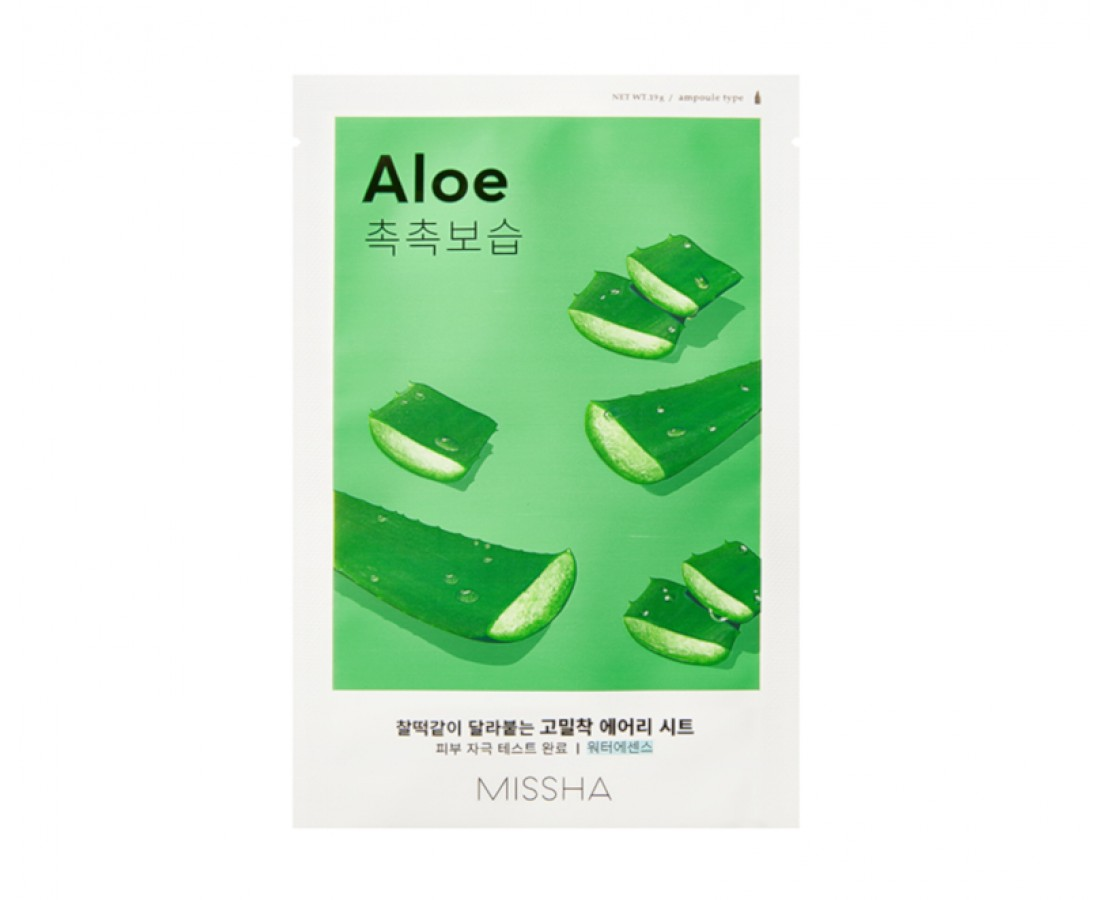 Missha Airy Fit Sheet Mask (Aloe) - kaukė