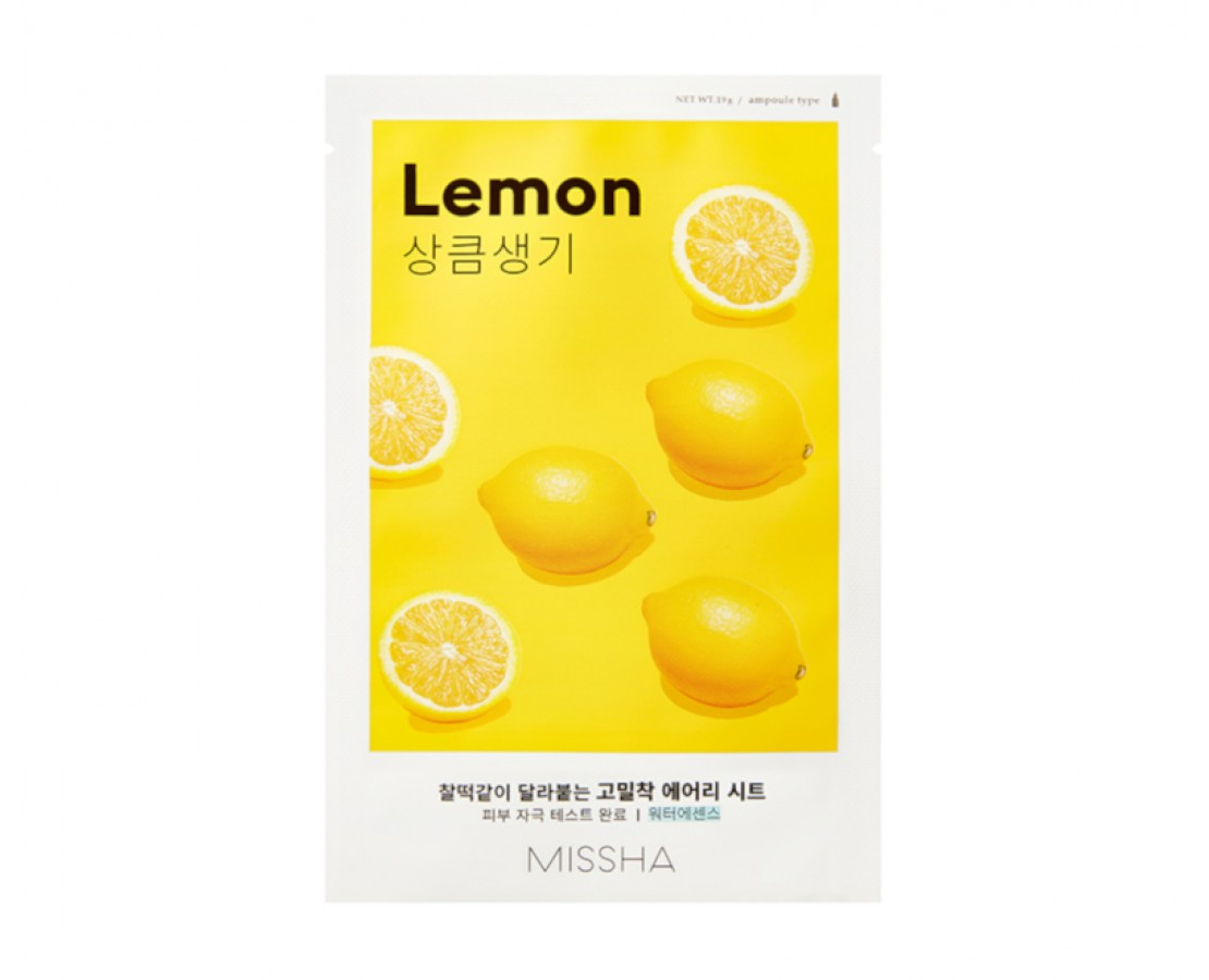 Missha Airy Fit Sheet Mask (Lemon) - kaukė