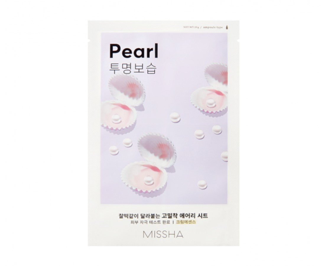 Missha Airy Fit Sheet Mask (Pearl) - kaukė