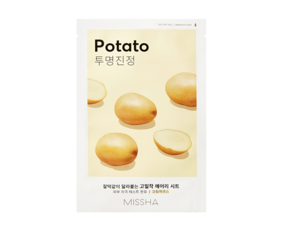 Missha Airy Fit Sheet Mask (Potato) - kaukė