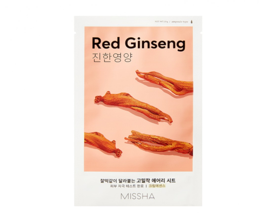 Missha Airy Fit Sheet Mask (Red Ginseng) - kaukė