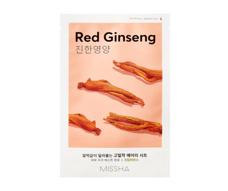 Missha Airy Fit Sheet Mask (Red Ginseng) - kaukė