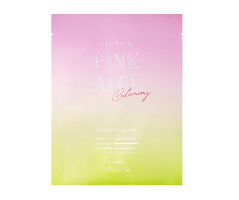 Missha Premium Pink Aloe Soothing Jelly Mask - kaukė