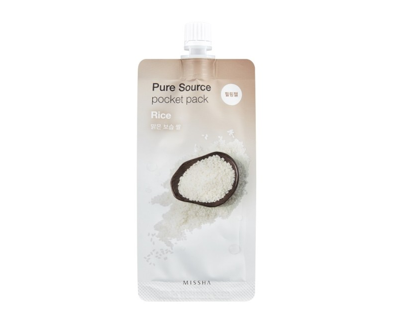 Missha Pure Source Pocket Pack (Rice) - veido šveitiklis