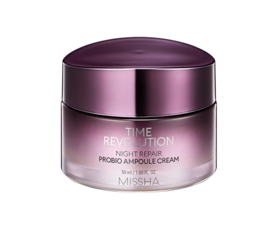 Missha Time Revolution Night Repair Probio Ampoule Cream - naktinis veido kremas