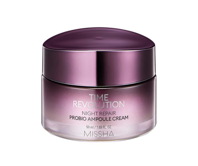 Missha Time Revolution Night Repair Probio Ampoule Cream - naktinis veido kremas